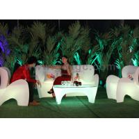 Rechargeable Outdoor plastic Sofa Lounge led Illuminated Modern sofa outdoor use