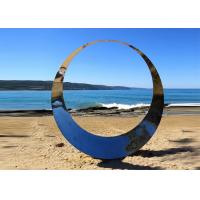Wholesale Welding Technique Stainless Steel Sculpture Circle Design For Lawn 150cm Dia from china suppliers