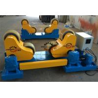 China 30 T High Tensile Steel Self Aligned Welding Rotator Roller Bed With PU Wheels wholesale