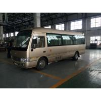 China Mitsubishi Rosa Leaf Spring Coaster Diesel Mini Bus JAC Chassis With Electric Horn wholesale