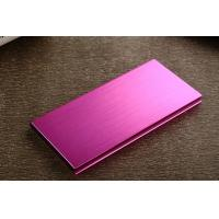 China Ultra Thin 12000mAh Portable Power Bank , Metal Double USB Power Pack wholesale