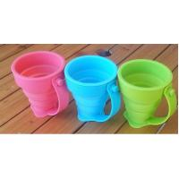 Coffee Drinking Silicone Drinking Cups Food Grade With Customized Logo 170ml