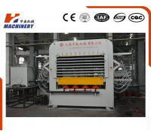 Hydraulic Melamine Plywood Hot Press Machine 25KW Automatic Feeding