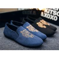 Wholesale Autumn Slip On Vintage Loafer Shoes Embroidered Men Dress Shoes Black Blue from china suppliers