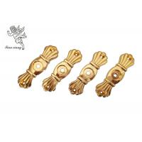 Quality Gold Funeral Coffin HardwareBracket Matching With Screw , Casket Hardware Suppliers for sale