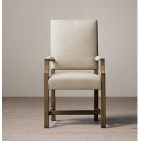 High back fabric dining chairs, Oak / Birch / Rubber armchair dining chairs