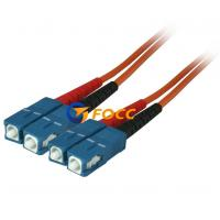 Buy cheap Custom OM2 Optical Fiber Cables SC SC Multimode Fiber Patch Cable from wholesalers