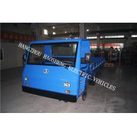 72V Material Transport Electric Platform Truck Blue 8 Tons Load Capacity