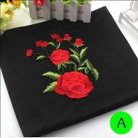 Wholesale Polyester Embroidered Iron On Patches Appliques With Boutique Rose Flower 19*14 cm from china suppliers