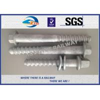 Wholesale M24 X 214mm Railway Sleeper track spikes or screw spikes With HDG coatings from china suppliers