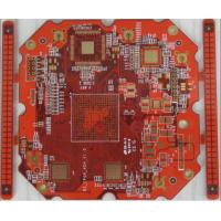 8 layer impedance PCB with BGA & Red soldermask