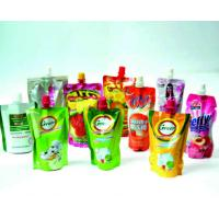 China Standing Liquid Spout Bags Doypack Pouch , Special Shape Stand Up Drink Pouch wholesale