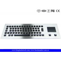 China Illuminated panel-mount Metal keyboard with 65 full travel keys and integrated Touchpad wholesale