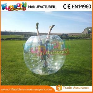 China 1.2 M Diameter PVC Transparent Inflatable Bubble Soccer Human Zorb Ball wholesale