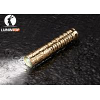 Wholesale Waterproof Everyday Carry Flashlight Brass Material Good Heat Dissipation from china suppliers