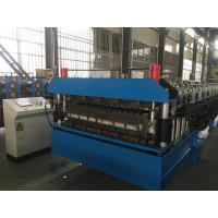 China Chain Drive Double Layer Roll Forming Machine / Roll Former With Manual Decoiler wholesale