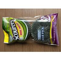Galvanized Steel Wire Mesh Cleaning Scourers ,Steel Wool Scouring Pads Eco Friendly