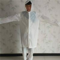 Adult White PEVA Raincoat