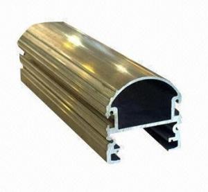 Steel Polished Structural 6061 Aluminum Profile , Wood Grain Coated Extrusion Aluminum Profiles