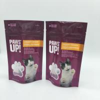 China Water Proof Stand Up Zipper Bags Cat Food Pouches With Tear Notch wholesale