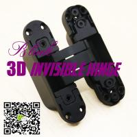 China opening 180 three ways adjust hidden concealed hinges 3d invisible hinge made in china wholesale