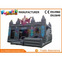 Wholesale 0.55mm PVC tarpaulin Gray  Kids inflatable castle wizards castle inflatable Bounce House from china suppliers