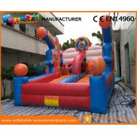 China 0.55 MM PVC Tarpaulin Inflatable Sports Games Hot Inflatable Basketball Hoop Giant wholesale