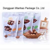 Wholesale Nut Snack Packaging Standup Food Zipper Pouch With Easy Tearing Notch , Clear Window from china suppliers