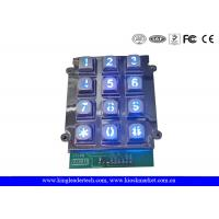 China 12 Keys Zinc Alloy Metal Keypad With Blue Backlight, 9 PIN connector wholesale