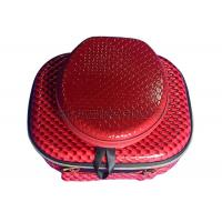 Customized Red EVA Cosmetic Bag Zip Lock , Portable Makeup Case For Travel