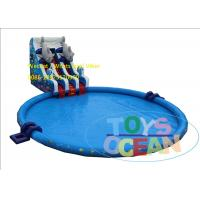 Fashion Double Fish Slide Inflatable Water Park Huge Round Swimming Pool EN14960