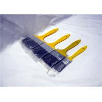 China Colorful Plastic Handle Flat Paint Brush , Bristle Paint Brushes For Walls Painting wholesale