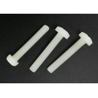 Wholesale M5X20 Cross Recess Round Head White Plastic Nylon Screws with Flat Point from china suppliers