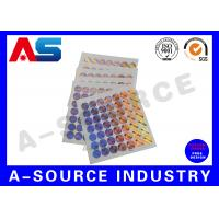 Plastic Custom Holographic Stickers Order Custom Stickers Steroid Label Box Packaging