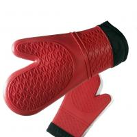 Wholesale Safety Cotton Silicone Grilling Gloves , Heat Resistant Gloves For Cooking from china suppliers