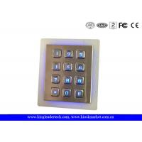 China IP65 Rated Stainless Steel Keypad 3x4 Keypad for Access Control System wholesale