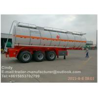 High Capacity 40 Ton Fuel Semi Truck Trailer Tanker , Multi Axles Trailers