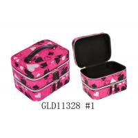 China Black Velvet Inside Ladies Makeup Box Recycled Hard Cosmetic Case OEM / ODM wholesale