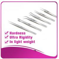 Wholesale Silver Eyelash Extension Tweezers false eyelash applicator tool anti - scratch from china suppliers