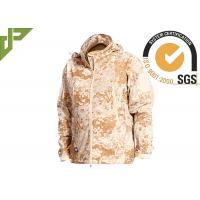 Wholesale Windproof Desert Tactical Softshell Jacket , Military Style Coat For Outdoor Sports from china suppliers