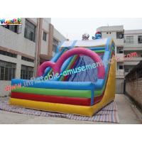 China Childrens Commercial grade 0.55mm(1000D, 18 OZ) PVC tarpaulin Inflatable Slide Toys wholesale