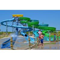 Largest Combination Adult Spiral Water Slide For Swimming Pool / Aqua Park