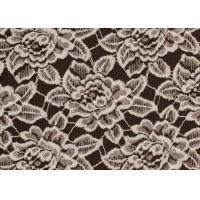 OEM / ODM Customied Brushed Floral Lace Fabric By The Yard Anti-Static CY-LQ0006