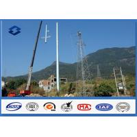 Steel Q345 10 - 550KV Low Voltage Electrical Power Pole Polygonal / Round Shape