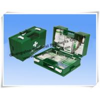 Heavy Duty ABS First Aid Dressing Medical Emergency Kits Military Green With Wall Fixing Bracket