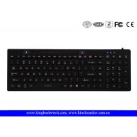 China IP68 Backlit Washable Silicone Keyboard With On / Off Switch and12 Function Keys wholesale