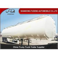 3 Axles Petrol Fuel Tanker Semi Trailer For Crude Oil Transportation