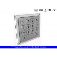 China Smart Door Access Keypad Backlit Metal Keypad 15 Keys In 4 X 4 Matrix wholesale