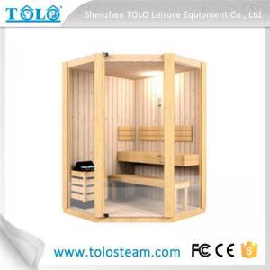 Polygon cedar sauna cabins indoor for 3 person - 6 person