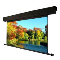 China 300'' Large Electric Underwind Screen Motorized Screen HD Projection Screen For Cinema, Large Demonstration Site wholesale